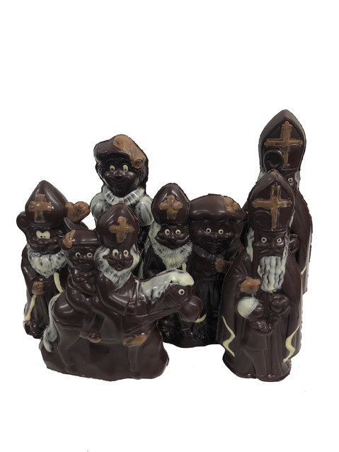 ingekleurde sint chocolade figuren puur