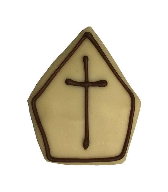 marsepeinen mijter met witte chocolade