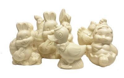 Assortiment Paasfiguren wit