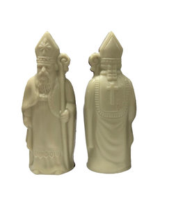 Sinterklaas wit 12 cm