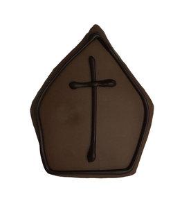 Marsepeinen mijter met melk chocolade