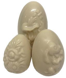 Assortiment holle Raap eieren witte chocolade
